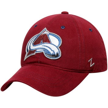 Women's Colorado Avalanche Zephyr Burgundy Relish Adjustable Hat