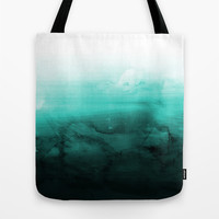 Green Lagoon Tote Bag by Cafelab