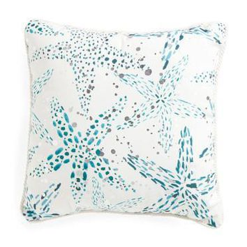 Thro by Marlo Lorenz Starfish Foil Throw Pillow