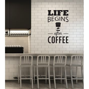 Vinyl Wall Decal Coffee To Go Bar Quote House Kitchen Dining Room Interior Stickers Mural (ig5943)