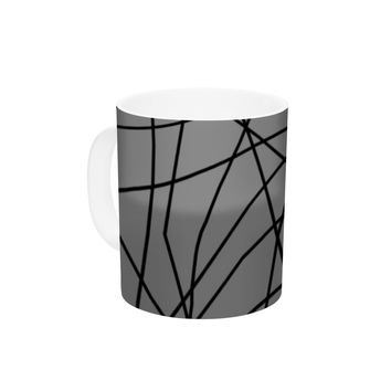 "Trebam ""Paucina v2"" Gray Black Ceramic Coffee Mug"