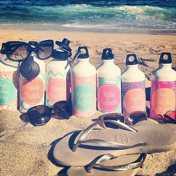 Personalized Aluminum Water Bottles Great Bridesmaids Gift Or Teachers Gift