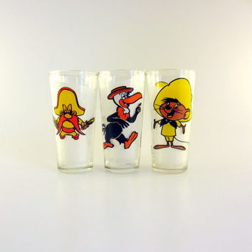 Vintage 1973 Pepsi Character Glasses - Set of 3