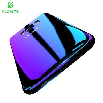 FLOVEME Luxury For Samsung S8 Plus Case Blue Ray Gradient Light Phone Cases For Samsung Galaxy S8 Plus Galaxy S6 S7 Edge Cover