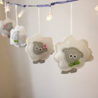 Spring Decor, little lamb Fairy Lights, gender neurtral, twins baby gift, sheep decor, Counting Sheep