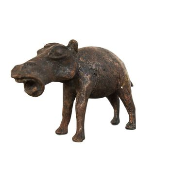 Copper Vintage African Hippo