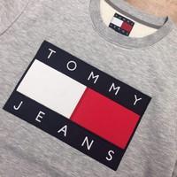 qiyif TOMMY JEANS BIG LOGO SWEATSHIRTS/JUMPERS FOR MEN 2017 AVAILABLE IN  S-M-L-XL-XXL