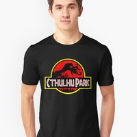 'Cthulhu Park' T-Shirt by darthpaul