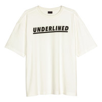 T-Shirt with Printed Text - from H&M
