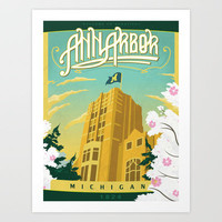 Ann Arbor Union Art Print by The Mighty Mitten - Michigan & Great Lak