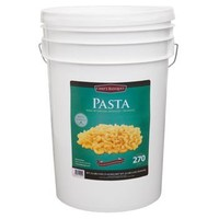 270 Total Servings of Macaroni Pasta Emergency Food Bucket By Chef's Banquet 19 Cents Per Serving 25 Total Lbs of Pasta