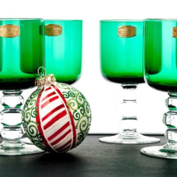 """WINE GLASSES. Austrian Made Wine Glasses By Stoelzle - Oberglas. Fine Crystal Hand-Crafted In """"Rustic Chalice"""" Style."""