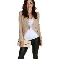 Promo- Taupe No Collar Required Blazer