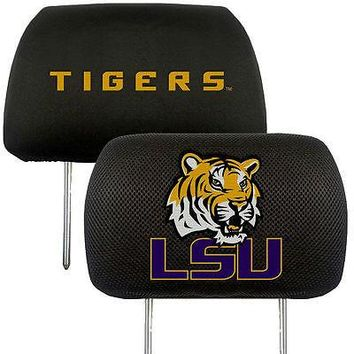 LSU Tigers  2-Pack Auto Car Truck Embroidered Headrest Covers