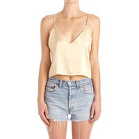 Zillah Cropped Camisole - Gold
