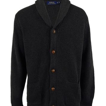 Polo Ralph Lauren Men's Cotton Shawl Collar Cardigan Sweater