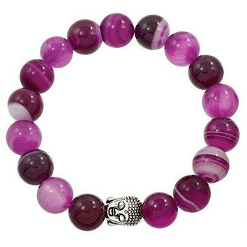 Falari Buddha Energy Natural Stone Stretch Bracelet