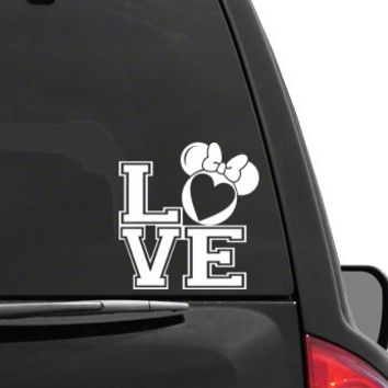 Auto Sticker - Auto Decal MINNIE MOUSE EARS LOVE Vinyl Decal Sticker DISNEY for Car Truck SUV Boat Trailer Laptop iPad