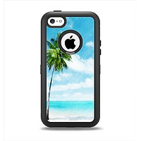 The Paradise Beach Palm Tree Apple iPhone 5c Otterbox Defender Case Skin Set