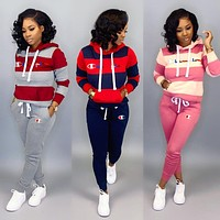 CHAMPION Fashion Womens Long Sleeve Top Pants Two-Pieces