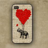 iPhone 4/4s case Elephant and Heart iPhone Rubber Case