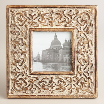 White Square Medallion Rhian Frame - World Market