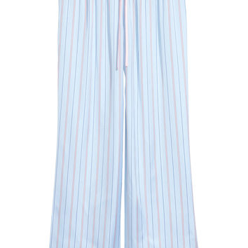 Satin lounge trousers - Light blue - Ladies | H&M GB
