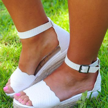 4TH Of July Wedges: White