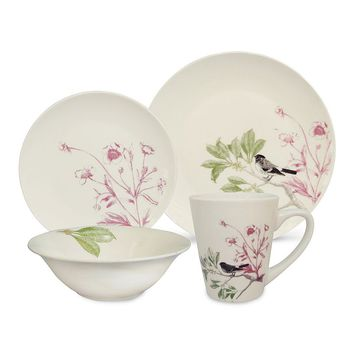 SONOMA life + style Evelyn Bloom 16-pc. Dinnerware Set (White)