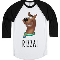 Scooby Doo Rizza!-Unisex White/Black T-Shirt