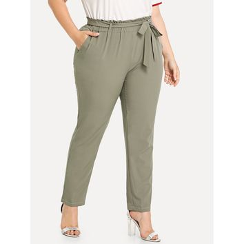 Self Tie Waist Pants