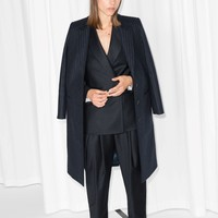 & Other Stories | Pinstripe Coat | Blue Dark