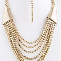 Layered Box Chain Necklace