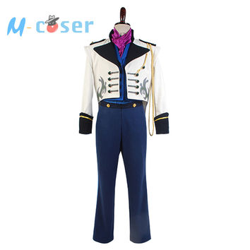 Hot Anime Movie Elsa Prince Hans Suit Coat Tuxedo TUX Uniform Outfit For Adult Men Haloween Cosplay Costumes