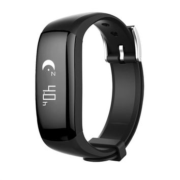 P6 Touch Button Sport Bracelet Distance Measurement Wristband Pedometer IP67 Waterproof Smart Bracelet (Black)