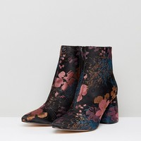 Stradivarius Jacquard Block Heel Boot at asos.com