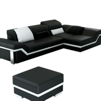 Small Contemporary Sectional, Mini Matrix Sofa - Opulentitems.com