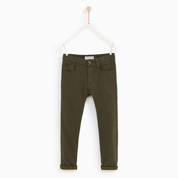 TROUSERS WITH SOFT LINING DETAILS