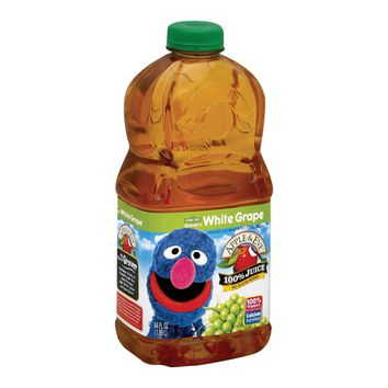 Apple And Eve Sesame Street 100 Percent Juice - Grover's White Grape - Case Of 8 - 64 Fl Oz.