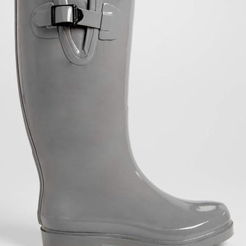 Grace solid rain boot in gray | maurices