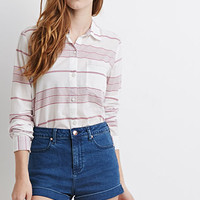 Contrast-Striped Shirt