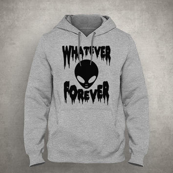 Whatever forever - Horror alien - Dripping & melting style - Gray/White Unisex Hoodie - HOODIE-032