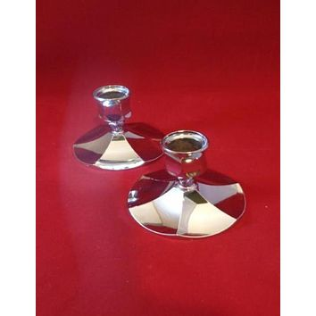 Irvinware Silver Plated Candlestick Holders  S/2
