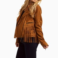 Tan-Fringed-Suede-Cropped-Jacket