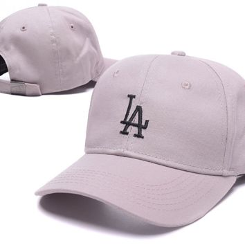 Lilac LA Embroidered Adjustable Outdoor Baseball Cap Hats