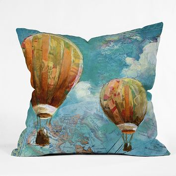 Land Of Lulu Two Balloons Throw Pillow