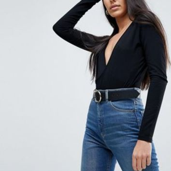 ASOS DESIGN Tall Body with Deep Wrap Front and Back at asos.com