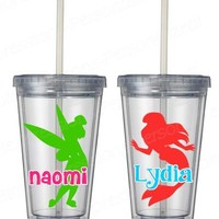 Princess silhouette personalized 12 oz kids tumbler from SimpleXpressions-Personalized!