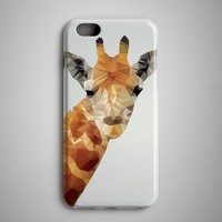 Giraffe Geometric iPhone Case