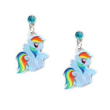 My Little Pony Rainbow Dash Drop Earrings | Claire's